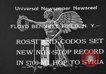 Image of French aviators Rossi and Codos set distance record Brooklyn New York City USA, 1933, second 6 stock footage video 65675054994