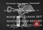 Image of French aviators Rossi and Codos set distance record Brooklyn New York City USA, 1933, second 7 stock footage video 65675054994