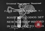Image of French aviators Rossi and Codos set distance record Brooklyn New York City USA, 1933, second 8 stock footage video 65675054994