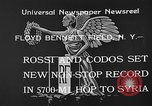 Image of French aviators Rossi and Codos set distance record Brooklyn New York City USA, 1933, second 9 stock footage video 65675054994