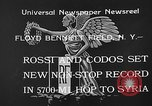 Image of French aviators Rossi and Codos set distance record Brooklyn New York City USA, 1933, second 10 stock footage video 65675054994