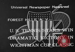 Image of Wight Cup Classic Tournament Forest Hills New York USA, 1933, second 3 stock footage video 65675054996
