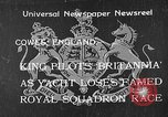 Image of Royal Yacht Squadron Regatta Cowes England, 1933, second 1 stock footage video 65675054997
