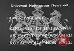 Image of Royal Yacht Squadron Regatta Cowes England, 1933, second 8 stock footage video 65675054997