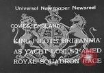 Image of Royal Yacht Squadron Regatta Cowes England, 1933, second 11 stock footage video 65675054997