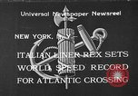 Image of Italian liner Rex New York City USA, 1933, second 1 stock footage video 65675055002