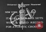 Image of Italian liner Rex New York City USA, 1933, second 5 stock footage video 65675055002