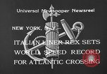 Image of Italian liner Rex New York City USA, 1933, second 8 stock footage video 65675055002