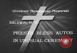 Image of autos blessed Baldwin New York USA, 1933, second 5 stock footage video 65675055004