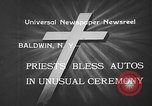 Image of autos blessed Baldwin New York USA, 1933, second 6 stock footage video 65675055004