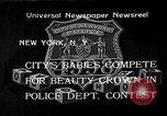 Image of fair baby contest New York City USA, 1933, second 1 stock footage video 65675055005