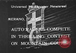 Image of auto race Merano Italy, 1933, second 1 stock footage video 65675055006