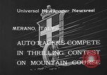 Image of auto race Merano Italy, 1933, second 5 stock footage video 65675055006