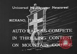 Image of auto race Merano Italy, 1933, second 7 stock footage video 65675055006