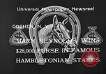 Image of Hambletonian Stake Goshen New York USA, 1933, second 7 stock footage video 65675055009