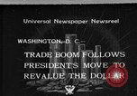 Image of Gold Reserve Act Washington DC USA, 1934, second 1 stock footage video 65675055010
