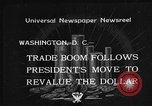 Image of Gold Reserve Act Washington DC USA, 1934, second 2 stock footage video 65675055010