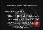 Image of Gold Reserve Act Washington DC USA, 1934, second 6 stock footage video 65675055010