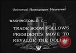 Image of Gold Reserve Act Washington DC USA, 1934, second 10 stock footage video 65675055010