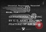 Image of air show Miami Florida USA, 1934, second 1 stock footage video 65675055018