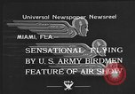 Image of air show Miami Florida USA, 1934, second 6 stock footage video 65675055018