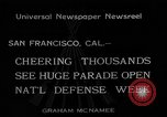 Image of National Defense Week parade San Francisco California USA, 1934, second 2 stock footage video 65675055027