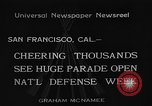 Image of National Defense Week parade San Francisco California USA, 1934, second 6 stock footage video 65675055027