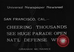 Image of National Defense Week parade San Francisco California USA, 1934, second 9 stock footage video 65675055027