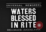 Image of blessed water Belgrade Yugoslavia, 1935, second 1 stock footage video 65675055053