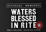 Image of blessed water Belgrade Yugoslavia, 1935, second 2 stock footage video 65675055053
