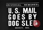 Image of mail in dog-drawn sled Minot Maine USA, 1935, second 1 stock footage video 65675055056