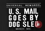 Image of mail in dog-drawn sled Minot Maine USA, 1935, second 5 stock footage video 65675055056