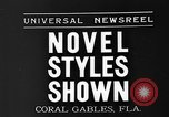 Image of fashion show Coral Gables Florida USA, 1935, second 3 stock footage video 65675055057
