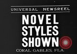 Image of fashion show Coral Gables Florida USA, 1935, second 4 stock footage video 65675055057
