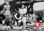 Image of American and Russian troops Germany River Elbe, 1945, second 12 stock footage video 65675055064