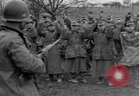 Image of German prisoners marched through town Mulhouse Alsace France, 1944, second 8 stock footage video 65675055073