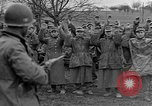Image of German prisoners marched through town Mulhouse Alsace France, 1944, second 9 stock footage video 65675055073
