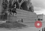 Image of Wartime protection for Cathedral of Notre-Dame  Rheims France, 1944, second 4 stock footage video 65675055077