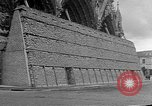 Image of Wartime protection for Cathedral of Notre-Dame  Rheims France, 1944, second 8 stock footage video 65675055077