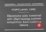 Image of hair cutting saloon Portland Oregon USA, 1931, second 3 stock footage video 65675055144