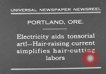 Image of hair cutting saloon Portland Oregon USA, 1931, second 4 stock footage video 65675055144