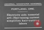 Image of hair cutting saloon Portland Oregon USA, 1931, second 5 stock footage video 65675055144