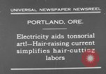 Image of hair cutting saloon Portland Oregon USA, 1931, second 6 stock footage video 65675055144