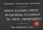Image of people eat apples to help jobless growers San Francisco California USA, 1931, second 1 stock footage video 65675055145