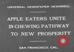 Image of people eat apples to help jobless growers San Francisco California USA, 1931, second 2 stock footage video 65675055145