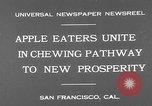 Image of people eat apples to help jobless growers San Francisco California USA, 1931, second 3 stock footage video 65675055145
