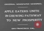 Image of people eat apples to help jobless growers San Francisco California USA, 1931, second 6 stock footage video 65675055145
