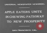 Image of people eat apples to help jobless growers San Francisco California USA, 1931, second 7 stock footage video 65675055145