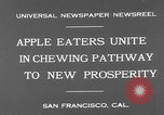 Image of people eat apples to help jobless growers San Francisco California USA, 1931, second 9 stock footage video 65675055145