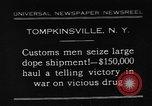 Image of seized drug shipment New York City USA, 1931, second 1 stock footage video 65675055146